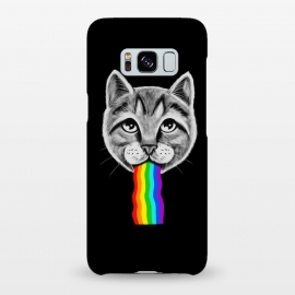 Galaxy S8+  Cat rainbow by Coffee Man