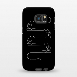 Galaxy S7  Cats Line by Coffee Man