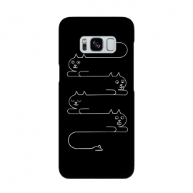 Cats Line by Coffee Man (cat,cats,minimalism,lines,geometric,simple,funny,fun,kitty,animal,pet,pet lover, cat lover,cat lady,mouse)