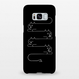Galaxy S8+  Cats Line by Coffee Man