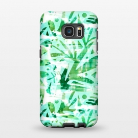 Galaxy S7 EDGE  Abstract Jungle by Heather Dutton