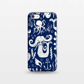 iPhone 5C  Under The Sea - Navy by Heather Dutton
