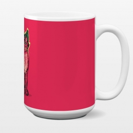 15 oz Standard Mug [ Fruit Cats ] Strawberry by Draco (cat,strawberry,fruit)
