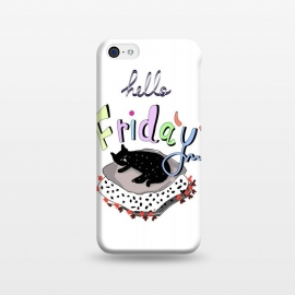 iPhone 5C  Hello Friday by MUKTA LATA BARUA (cats,hello,weekend,friday,fun,pop art,party,typo)