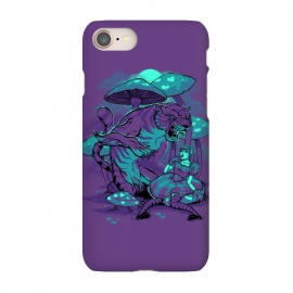 iPhone 7 SlimFit Cheshire Cat by Draco (alice,wonderland,tiger,cat,mushroom,night,fable)