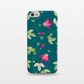 iPhone 5/5E/5s  Art of Nature by Uma Prabhakar Gokhale (graphic, pattern, watercolor, floral, tropical, bloom, blossom, botanical, nature, plant, exotic)