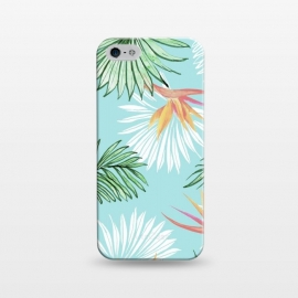 iPhone 5/5E/5s  Tropic Palm by Uma Prabhakar Gokhale (graphic, watercolor, bird of paradise, palm, palm leaves, tropical, nature, exotic, floral, botanical)