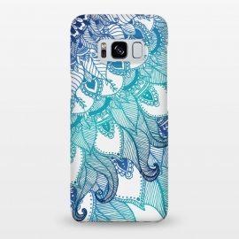 Galaxy S8+ SlimFit Mermaid  by Rose Halsey (mermaid,boho,hippie,mandala,zen)