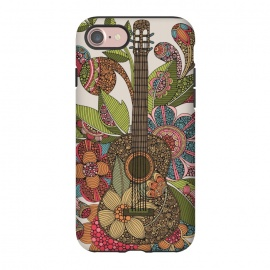 iPhone 8/7  Ever guitar by Valentina Harper (guitar,flowers,colors)