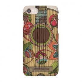 iPhone 7 SlimFit The guitar by Valentina Harper (guitar,flowers,colors)