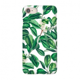 iPhone 7 SlimFit Botanica by Uma Prabhakar Gokhale (graphic, acrylic, botanical, nature, tropical, exotic, green, lush, leaves, floral)