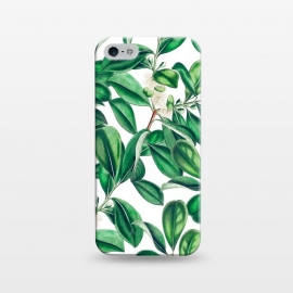 iPhone 5/5E/5s  Botanica by Uma Prabhakar Gokhale (graphic, acrylic, botanical, nature, tropical, exotic, green, lush, leaves, floral)