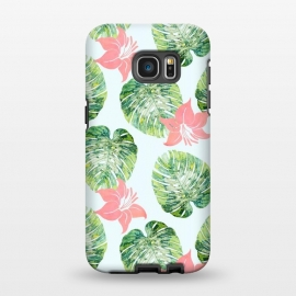 Galaxy S7 EDGE  Monstera and Pink by Uma Prabhakar Gokhale