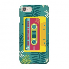 iPhone 8/7  Hot Summer Retro Tape by Dellán (Summer, tropical,vintage,retro,music,geek,hipster,gamer,fresh)
