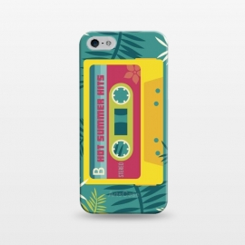 iPhone 5/5E/5s  Hot Summer Retro Tape by Dellán (Summer, tropical,vintage,retro,music,geek,hipster,gamer,fresh)