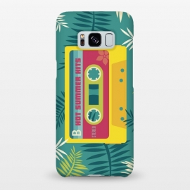 Galaxy S8+  Hot Summer Retro Tape by Dellán (Summer, tropical,vintage,retro,music,geek,hipster,gamer,fresh)