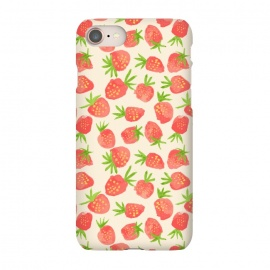 iPhone 7  Strawberry by Sarah Price Designs (fruit,strawberry,summer,watercolor,pattern)