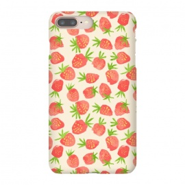 iPhone 8/7 plus  Strawberry by  (fruit,strawberry,summer,watercolor,pattern)
