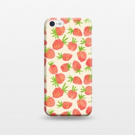 iPhone 5C  Strawberry by Sarah Price Designs
