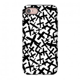 iPhone 8/7  Black and white kisses by Laura Grant (kiss,kisses,cross,x,black and white)