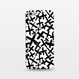 iPhone 5/5E/5s  Black and white kisses by  (kiss,kisses,cross,x,black and white)
