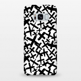 Galaxy S8+  Black and white kisses by Laura Grant (kiss,kisses,cross,x,black and white)