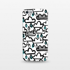 iPhone 5/5E/5s  Rain clouds by Laura Grant (rain cloud,cloud,rain,raindrop,painted)