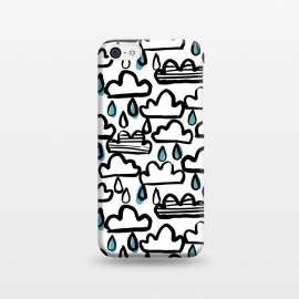 iPhone 5C  Rain clouds by Laura Grant (rain cloud,cloud,rain,raindrop,painted)