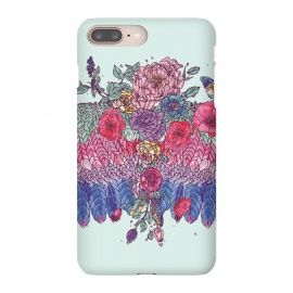 iPhone 8/7 plus  BohoChic Wings on Pale blu by Stefania Pochesci