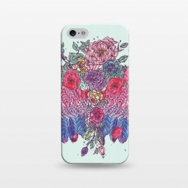 iPhone 5/5E/5s  BohoChic Wings on Pale blu by Stefania Pochesci