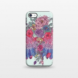 iPhone 5C  BohoChic Wings on Pale blu by Stefania Pochesci