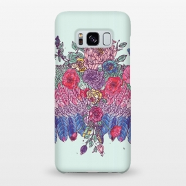 Galaxy S8+  BohoChic Wings on Pale blu by Stefania Pochesci (boho,wings,bohostyle,floral,blue,coachella,uniquegift,birthday,illustation,wingstofly,goodwibes,butterflies)