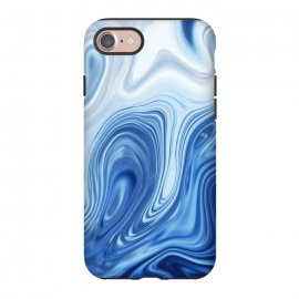 iPhone 7 StrongFit Blue Ocean by Martina (marble, blue, phone case,nature,sea,ocean,stylish,modern,abstract)