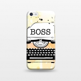 iPhone 5C  Girl Boss Typewriter by Martina (girlboss,boss,entrepreneur,typewriter,ladyboss,babeboss,yellow,watercolor,stylish,modern,vintage,girlpower)