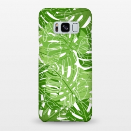 Galaxy S8+  Tropical Leaves by Martina (nature,leaves,palm leaves,banana leaves,tropical,exotic,paradise,stylish,fashionable,modern,cool,unisex)
