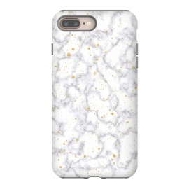 iPhone 8/7 plus  Simply Marble by Martina (marble, stone, modern, fashionable,stylish, unisex,classy,simple,clean,minimalist,gold,texture)