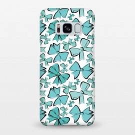 Galaxy S8+  Blue Bows by Martina (ribbon,bow,fashion,stylish, modern, feminine, girlie,cute,sweet,tiffanys,blue,pattern)