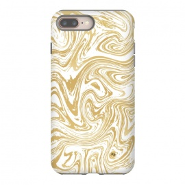 iPhone 8/7 plus  Marble Deluxe by Martina (luxury,deluxe,modern,stylish,fashionable,feminine,marble,waves,stone,gold,golden,unique, original)