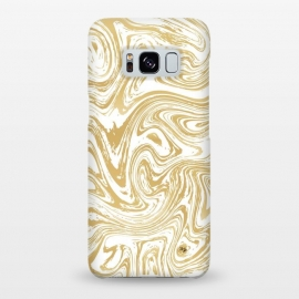 Galaxy S8+  Marble Deluxe by Martina (luxury,deluxe,modern,stylish,fashionable,feminine,marble,waves,stone,gold,golden,unique, original)