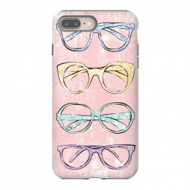 iPhone 8/7 plus  Funky Glasses by Martina (vintage,modern,glasses,accessories, fashion,fashionable,stylish,elegant,girlie,feminine,colorful,bright,pink,collection,funky,mod)