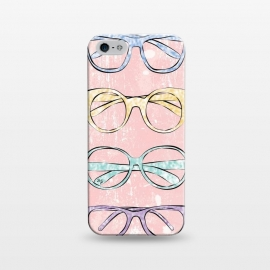 iPhone 5/5E/5s  Funky Glasses by Martina (vintage,modern,glasses,accessories, fashion,fashionable,stylish,elegant,girlie,feminine,colorful,bright,pink,collection,funky,mod)