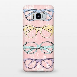 Galaxy S8+  Funky Glasses by Martina (vintage,modern,glasses,accessories, fashion,fashionable,stylish,elegant,girlie,feminine,colorful,bright,pink,collection,funky,mod)