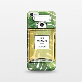 iPhone 5C  Trpical Chanel Perfume  by Martina (chanel, designer,luxury,elegant,tropical, paradise,exotic,green,nature,perfume,fragrance,beauty,fashion,girlboss,bossbabe,ladyboss,bottle,classic,stylish,chanel no5)