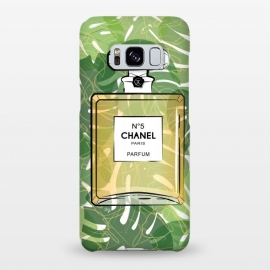 Galaxy S8+  Trpical Chanel Perfume  by Martina (chanel, designer,luxury,elegant,tropical, paradise,exotic,green,nature,perfume,fragrance,beauty,fashion,girlboss,bossbabe,ladyboss,bottle,classic,stylish,chanel no5)