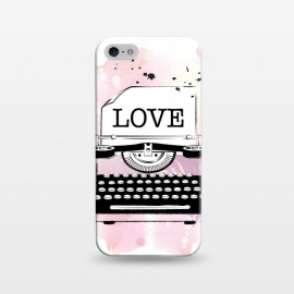 iPhone 5/5E/5s  Love Typewriter by Martina