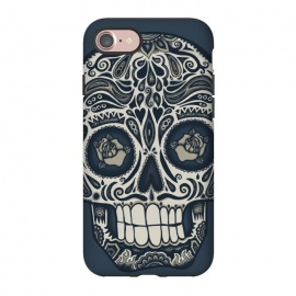 iPhone 8/7 StrongFit Calavera IV by Wotto (skull,skulls,death,dead,day of the dead,mexico, mexican,sugar skull,sugar skulls,dark,Dia de los Muertos,Día de Muertos,calavera, calaveras,roses,patterns,skull art,floral,wotto)