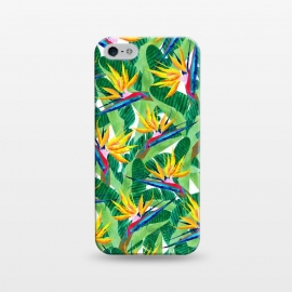 iPhone 5/5E/5s  Summer Strelitzia by  (birdofparadise,strelitzia,flowers,floarl,botanical,greenery,green,plants)