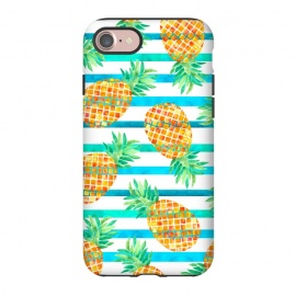 iPhone 7  Pineapple Sea Stripes by Amaya Brydon