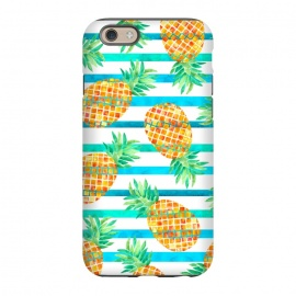 iPhone 6/6s  Pineapple Sea Stripes by Amaya Brydon