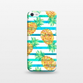 iPhone 5C  Pineapple Sea Stripes by Amaya Brydon